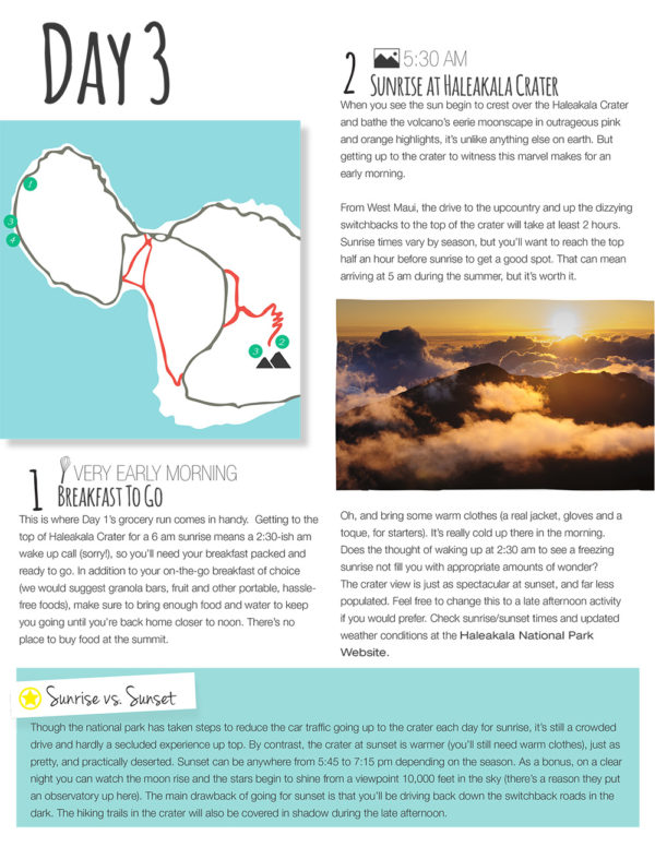Maui Travel Guide Itinerary Sample Day